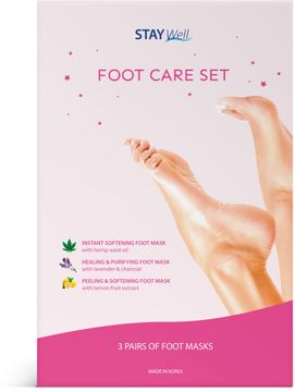 STAY Well Foot Care Fotmask, 3 st