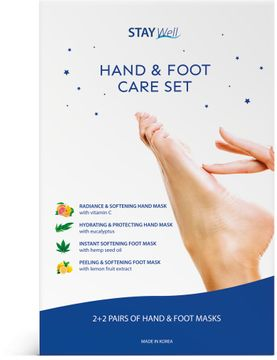 STAY Well Hand & Foot Care Handmask, 4 st