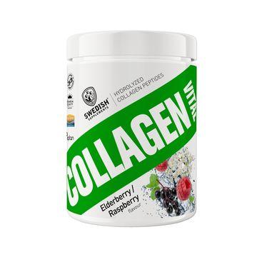 Swedish Supplements Collagen Vital Elderberry/Raspberry Pulver, 400 g