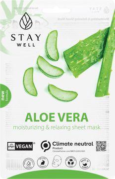 STAY Well Vegan Sheet Mask Aloe Ansiktsmask, 20 g