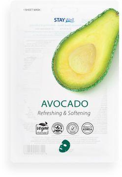 STAY Well Vegan Sheet Mask Avocado Ansiktsmask, 20 g