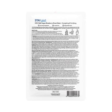 STAY Well Vegan Sheet Mask Blueberry Ansiktsmask, 20 g