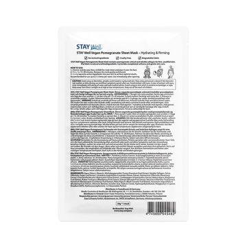 STAY Well Vegan Sheet Mask Pomegranate Ansiktsmask, 20 g