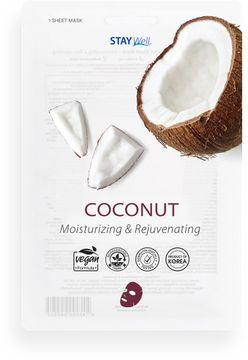 STAY Well Vegan Sheet Mask Coconut Ansiktsmask, 20 g