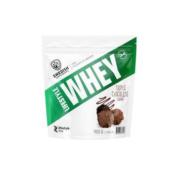 Swedish Supplements Lifestyle Whey Protein Tripple Chocolate Pulver, 1 kg