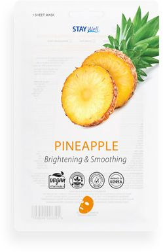 STAY Well Vegan Sheet Mask Pineapple Ansiktsmask, 20 g