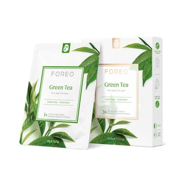 FOREO Farm To Face Green Tea Ansiktsmask, 3 st