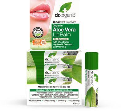 Dr Organic Aloe Vera LipBalm Läppbalsam, 5,7 ml