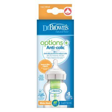 Dr.Brown WideNeck Options+ Bottle 150 ml Nappflaska, 1 st