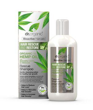 Dr Organic Hemp Oil Rescue Shampoo Schampo, 265 ml