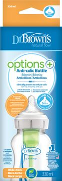 Dr.Brown WideNeck Options+ Bottle 330 ml Nappflaska, 1 st