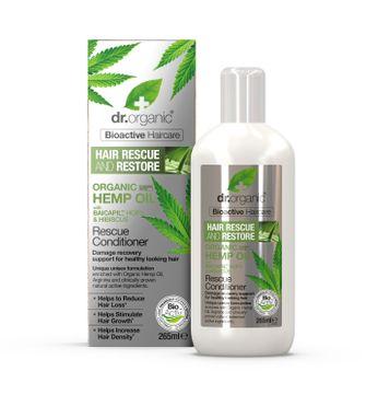Dr Organic Hemp Oil Rescue Conditioner Balsam, 265 ml