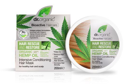 Dr Organic Hemp Oil Hair Mask Hårinpackning, 200 ml