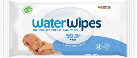 WaterWipes Biodegradable BabyWipes Våtservetter, 60 st