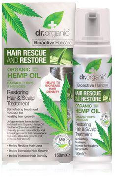Dr Organic Hemp Oil Hair & Scalp Treatment Hårmousse, 150 ml