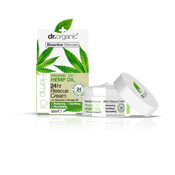 Dr Organic Hemp Oil 24hr Rescue Cream Hudkräm, 50 ml
