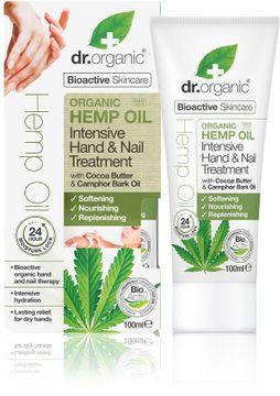 Dr Organic Hemp Oil Hand & Nail Treatment Handkräm & Nagelkräm, 100 ml