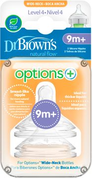 Dr.Brown Level 4 WideNeck Silicone Options+ Dinapp, 2 st
