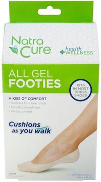 NatraCure Gel-footies Gel-sockor, 1 par