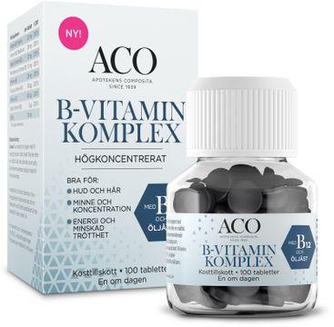 ACO B-vitamin Komplex Tabletter, 100 st