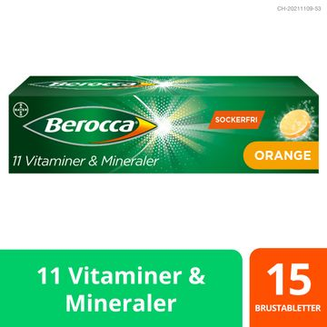 Berocca Energy Orange Brustablett, 15 st