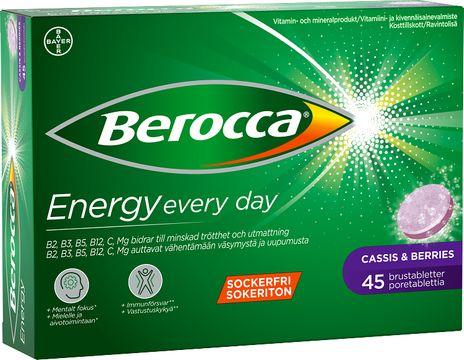 Berocca Energy Cassis & Berries Brustablett, 45 st