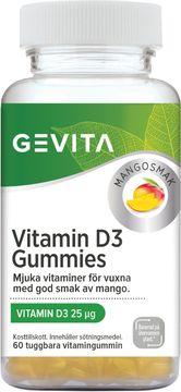 Gevita Vitamin D3 Gummies Tuggbara gummin, 60 st