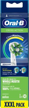 Oral-B Cross Action CleanMax Tandborsthuvud Tandborsthuvuden, 10 st