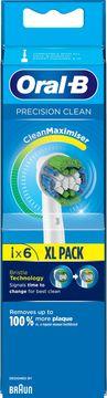 Oral-B Precision Clean CleanMax Tandborsthuvud Tandborsthuvuden, 6 st