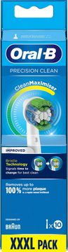 Oral-B Precision Clean CleanMax Tandborsthuvud Tandborsthuvuden, 10 st