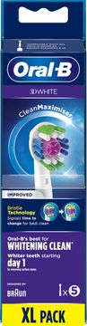 Oral-B 3D White CleanMax Tandborsthuvud Tandborsthuvuden, 5 st