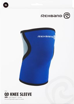 Rehband QD Knee Sleeve 3 mm Blue XL Knästöd, 1 st