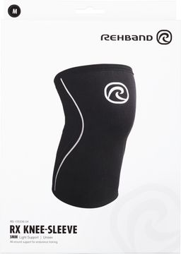 Rehband RX Knee Sleeve 3mm Black M Knästöd, 1 st