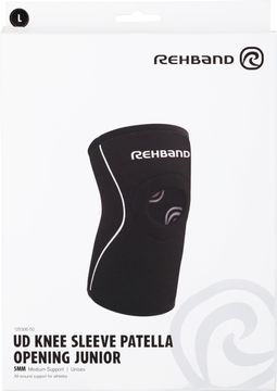Rehband UD Knee Sleeve Patella Open Jr 5mm Black L Knästöd, 1 st