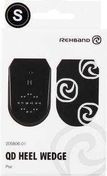 Rehband QD Heel Wedge Black S Hälinlägg, 1 par