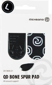Rehband QD Bone Spur Pad Black L Hälinlägg, 1 par
