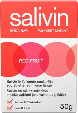 Salivin Röda Bär Muntorrhet Sugtablett, 50 g