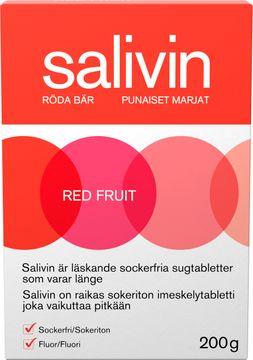 Salivin Röda Bär Muntorrhet Sugtabletter, 200 g