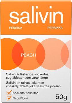 Salivin Persika Muntorrhet Sugtablett, 50 g