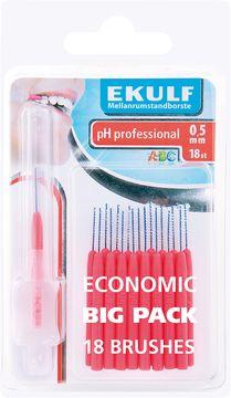 Ekulf PH Professional 0,5 mm Mellanrumsborste, 18 st