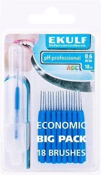 Ekulf PH Professional 0,6 mm Mellanrumsborste, 18 st