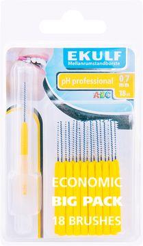 Ekulf PH Professional 0,7 mm Mellanrumsborste, 18 st