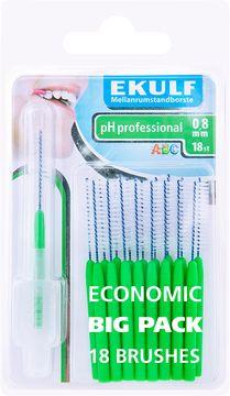 Ekulf PH Professional 0,8 mm Mellanrumsborste, 18 st