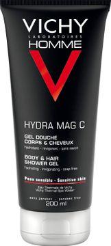Vichy Homme Hydra Mag C Shower Gel Rengöring för män, 200 ml