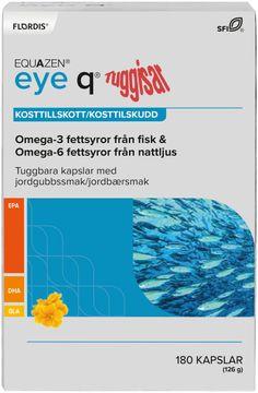 Equazen Eye Q Tuggisar Jordgubb Tuggkapslar. 180 st