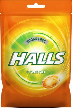 Halls Citrus Mix Sugar Free Halstablett, 65 g