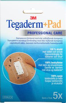 3M Tegaderm + Pad Förband, 5x7cm, 5 st