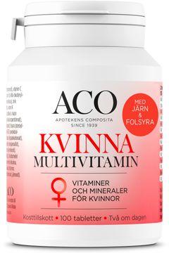 ACO Kvinna Multivitamin för kvinnor, 100 tabletter
