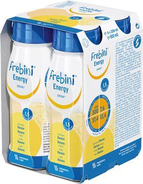 Frebini energy DRINK drickfärdigt kostillägg, komplett, banan 4 x 200 milliliter