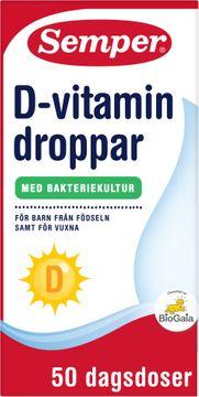Semper magdroppar D-vitamin Magdroppar, 10 ml